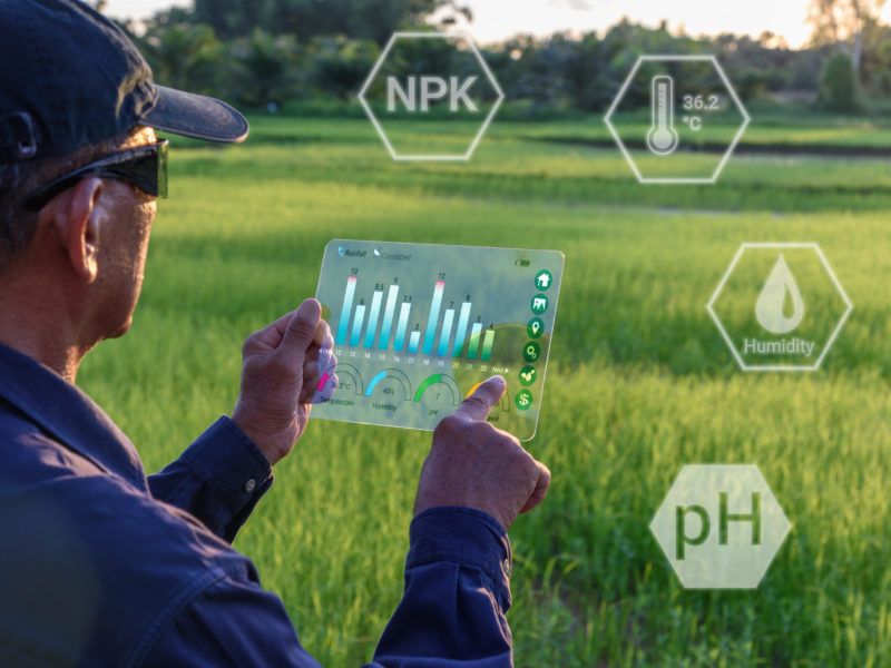 Smart,Farming,With,Iot,,Futuristic,Agriculture,Concept,:,Farmer,Wears