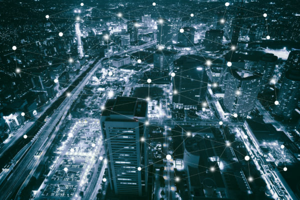 Smart,City,Scape,And,Network,Connection,Concept,,Wireless,Signal,Of